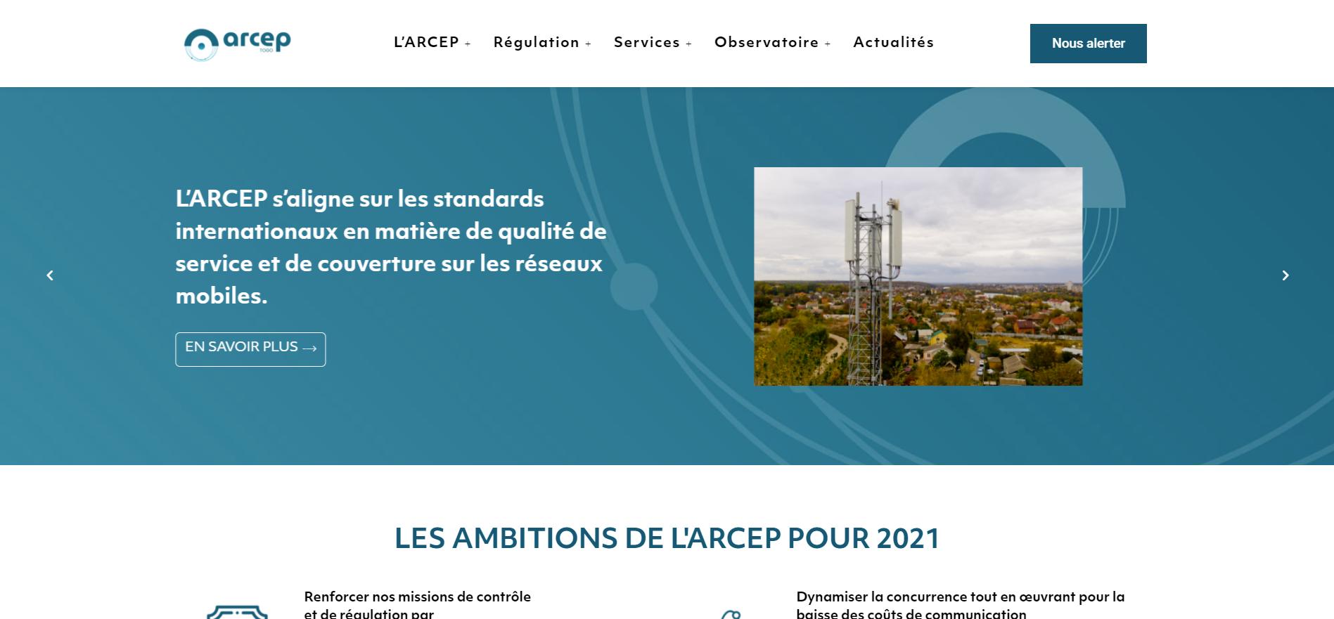 Site internet de l'ARCEP